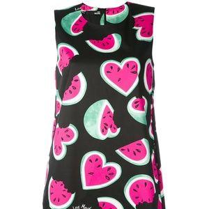 c85129cb8818c3 Love Moschino Dresses - Watermelon Heart Print Sleeveless Dress